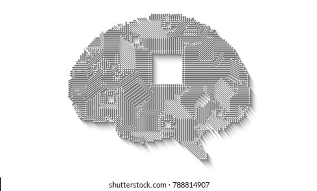 circuit board vector brain