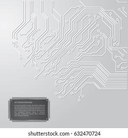 circuit board vector gray background