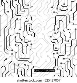 Circuit board. Vector illustration. Eps 10