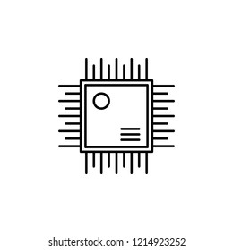 Circuit, controller icon. Element of robotics engineering for mobile concept and web apps icon. Thin line icon for website design and development, app development. Premium icon