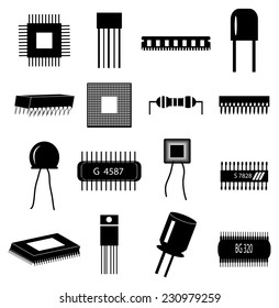 circuit Electronics icons set