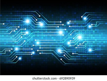circuit future technology, blue cyber security concept background, abstract hi speed digital internet.motion move blur. pixel. vector