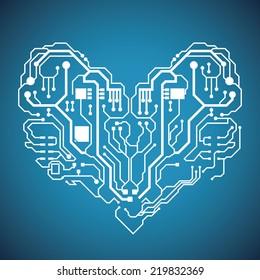 circuit graphic design , vector illustration