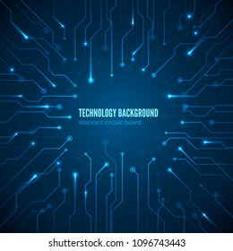 Circuit hardware texture. Computer chipset connection. Concept of circuit board background. Abstract computer motherboard. Vector illustration