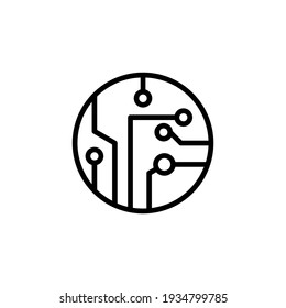 Circuit icon vector illustration logo template for many purpose. Isolated on white background.