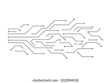 Circuit illustration design vector