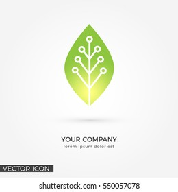 Circuit Leaf , VECTOR LOGO / ICON