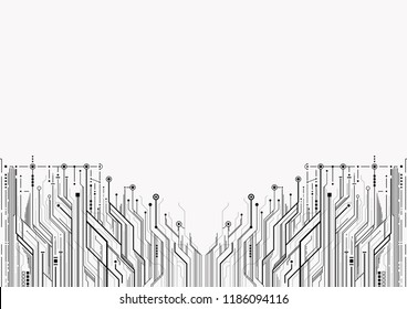 Circuit line with technology abstract concept, Vector illustration background.