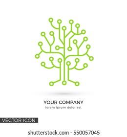 Circuit Tree , VECTOR LOGO / ICON TEMPLATE
