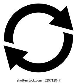 Circular arrow, circle arrow icon. Rotation, restart, twist, turn concept button / icon. Vector