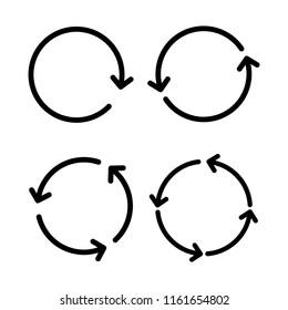 Circular arrows sign icon set vector