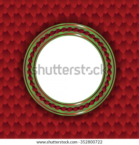 circular christmas themed background illustration room stock vector