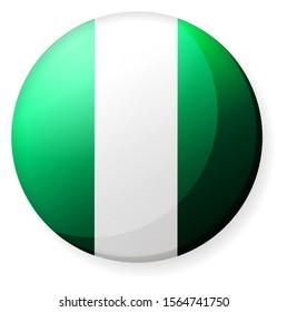 Circular country flag icon illustration ( button badge ) / Nigeria