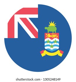 Circular Design Flag Cayman Islands