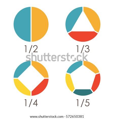 circular diagram set pie chart template stock vector royalty free