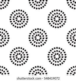 Circular dot pattern