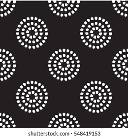 Circular dot pattern black