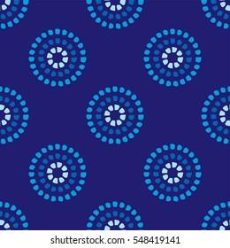 Circular dot pattern blue