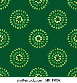 Circular dot pattern green