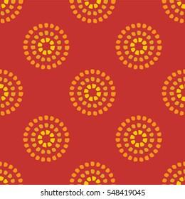 Circular dot pattern orange