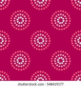 Circular dot pattern pink