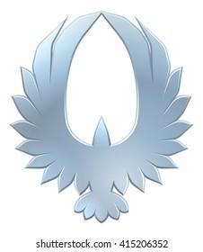A circular Eagle or other bird icon concept design