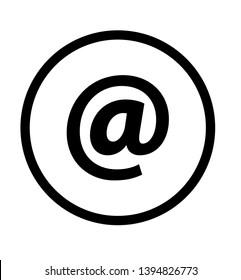 circular Email button icon vector