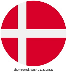 Circular flag of Denmark