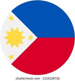 Circular flag of Philipines