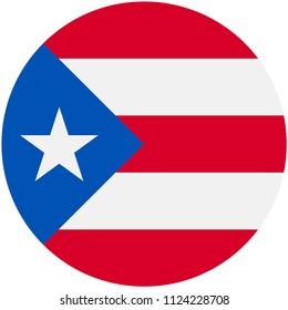 Circular flag of Puerto rico