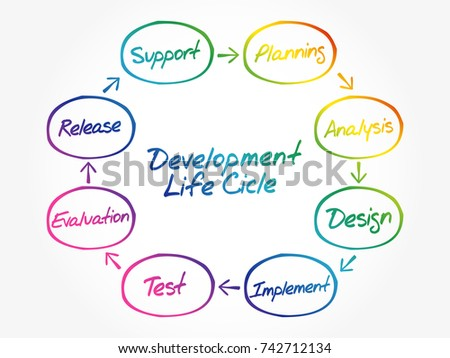 Circular Flow Chart Life Cycle Development Stock Vector Royalty
