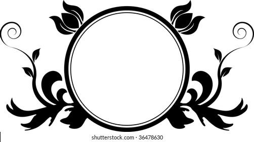 A circular frame