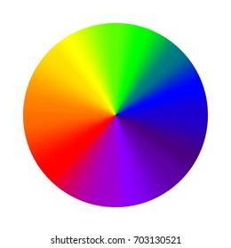 Circular gradient rainbow, vector round color palette cone rainbow gradient, Hex seven colors