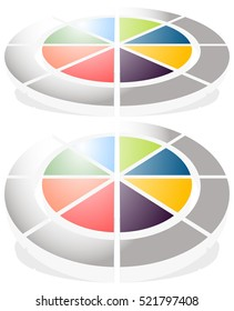 Circular graph icon, chart icon. Element for infographic design