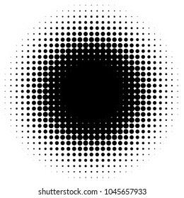Circular halftone gradient element. Halftone circle pattern