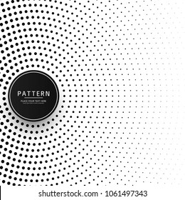 Circular halftone pattern background