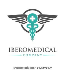 circular health symbol logo design