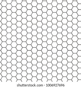 Circular honeycomb background. Elliptic gradient. grey background