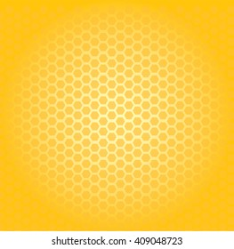 Circular honeycomb background. Elliptic gradient.