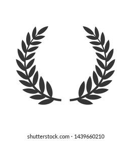 Circular Laurel Foliate Icon. Film Festival Award. Vector