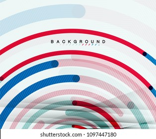 Circular lines circles, geometric abstract background. Vector illustration