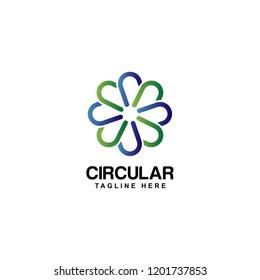 circular logo design template