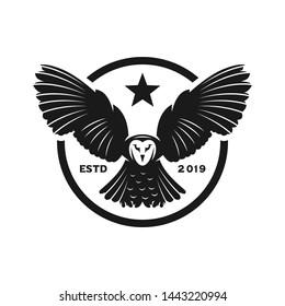 circular logo of an owl animal