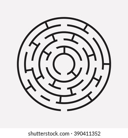 circular maze puzzle on white