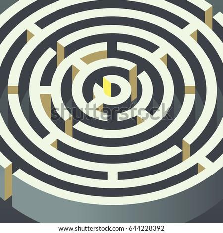 Circular Maze Puzzle Vector Background Stock Vector Royalty Free
