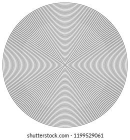 Circular Modern Etching Engraving Texture Bullseye Globe Round Shape