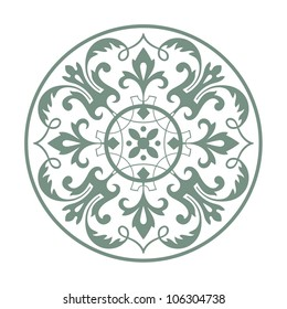 Circular ornament vector design