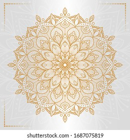 Circular pattern in form of mandala for Henna, Mehndi, decoration. Decorative ornament in ethnic oriental style
