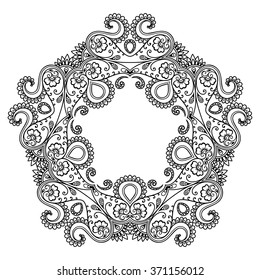 Zentangle Om Sign Symbol Mandala Indian Stockvector Rechtenvrij