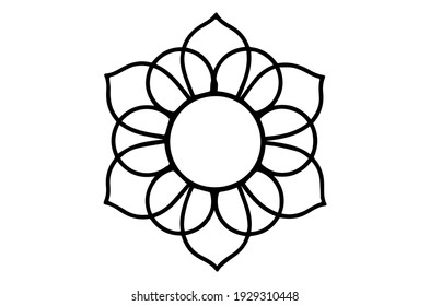 Circular pattern in form of mandala for  tattoo, decoration. Decorative ornament in ethnic oriental style.